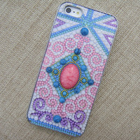 Gem Stone Centre Exotical Pattern Handmade Dase for iPhone 5 B9