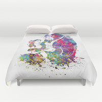 Beauty and the Beast Duvet Cover by Bitter Moon