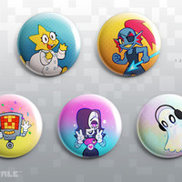 UNDERTALE Anime Friends Button Set