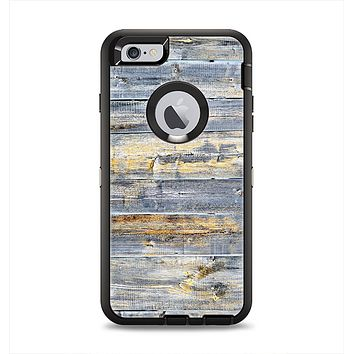 The Vintage Wooden Planks with Yellow Paint Apple iPhone 6 Plus Otterbox Defender Case Skin Set
