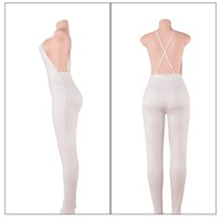 Women 456 Deep V-neck Jumpsuit