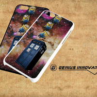 Minions Drop to Tardis Samsung Galaxy S3 S4 S5 Note 3 , iPhone 4(S) 5(S) 5c 6 Plus , iPod 4 5 case