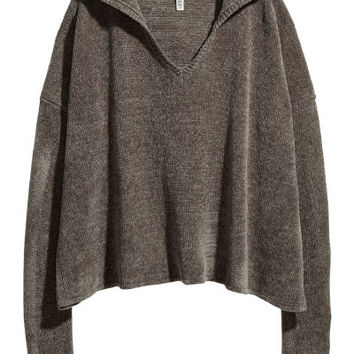 Chenille Hooded Sweater - from H&M