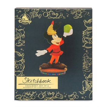 Disney Mickey and Beanstalk Memories Sketchbook Ornament Set Limited New Box
