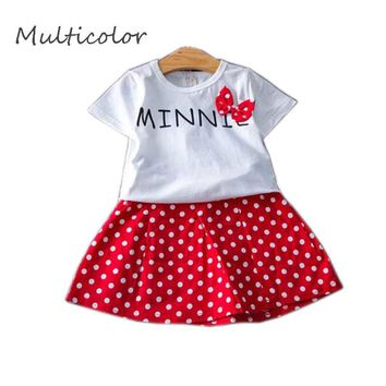 Multicolor Baby Fashion Print Style 2017 children's Dress Hello Kitty Casual For Children Gilr's Party Sets + Dresses Cloth 2-7T