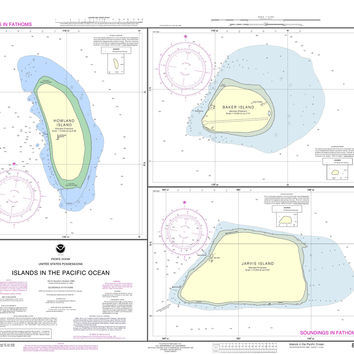 NOAA Nautical Chart 83116: Islands in the Pacific Ocean-Jarvis, Bake and Howland Islands