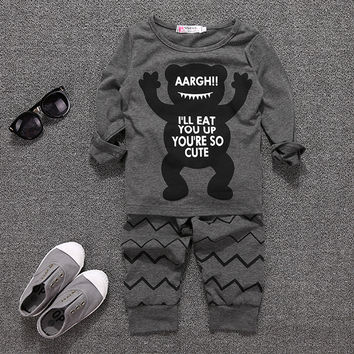 Baby Toddler Infant Newborn Boy Warm Short Sleeve Top Blouse Pants Trousers Outfits Set 70/80/90/100