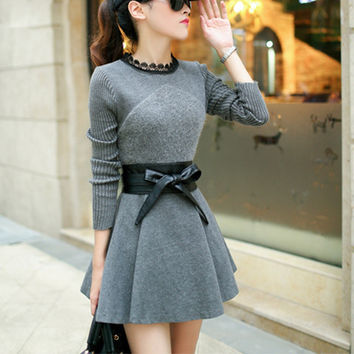 New women clothes long sleeve vestido femininos robe de plage vetement femme ropa mujer roupa office dresses autumn dress