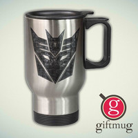 Transformers Logo 14oz Stainless Steel Travel Mug