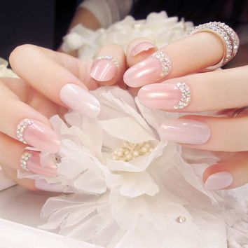Nail finished fake fingernails bride nail patch false nails 24 finished piece C series Variety optional