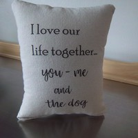 Phrase pillows lifestyle throw pillow gift for him cotton cushion