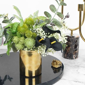 Faux Lily in Green Plant Arrangement Small