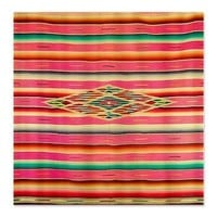 Vintage Pink Mexican Serape Shower Curtain> Coastal, Vintage and Urban Chic Shower Curtains> Rebecca Korpita Coastal Design
