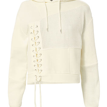 Lace Patch Hoodie