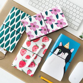 Cute PU Leather Notebook Spiral Personal Dairy Memos Planner Organizer Binding Notepad Travel Pad Journal School Gift Soft Books