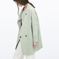 Seamed masculine coat
