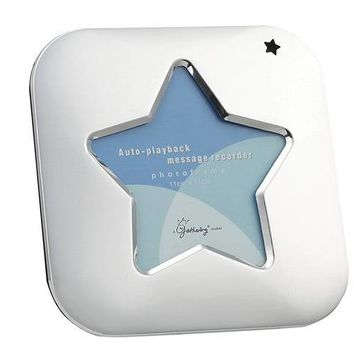 Free Engraving Personalized Silver Star Frame with Voice Recorder