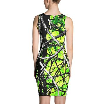 Neon Green Camo Sublimation Dress