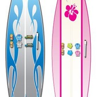Board Dudes Magnetic Dry Erase Surfboard, Includes 6 Magnets, Design and Color May Vary (17070UA-4)