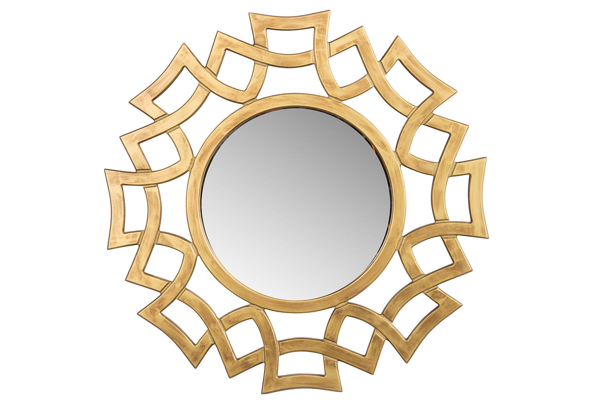 Mirrors stella wall mirror gold small from one kings lane for Small gold mirror
