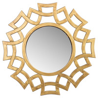 Mirrors, Stella Wall Mirror, Gold, Small Accent Mirrors