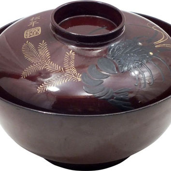 JAPANESE LACQUER BOWL OWAN