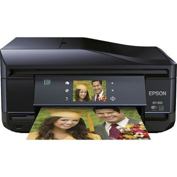 Epson - Expression Photo XP-810 Small-in-One Wireless All-In-One Printer - Black/Blue