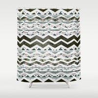 TRIBAL CHEVRON Shower Curtain by Nika