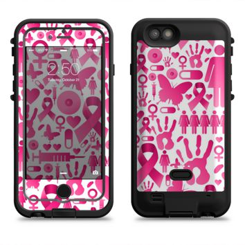 The Pink Collage Breast Cancer Awareness  iPhone 6/6s Plus LifeProof Fre POWER Case Skin Kit