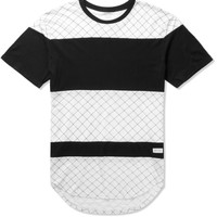 Black/White Gridded Panel T-Shirt