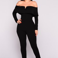 Very V Wire Jumpsuit - Black