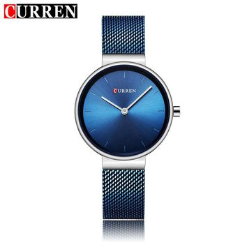 Watch Women Quartz Watches Ladies Luxury Female Wristwatches Thin Mesh Stainless Steel Bracelet