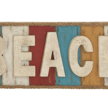 Colorful and Fun Beach Theme Wall Sign Décor