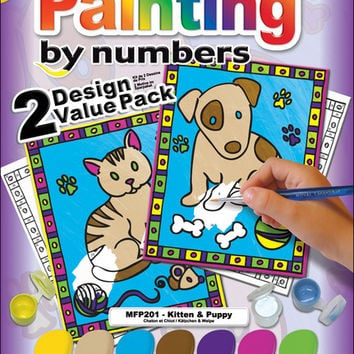 "Kitten & Puppy Painting Kit - 8.75"" x 11.375"""