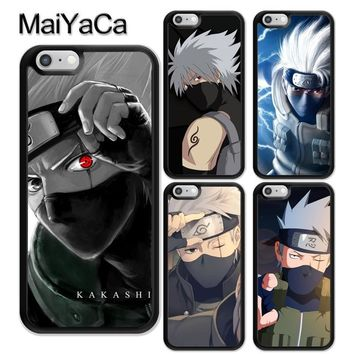 Naruto Sasauke ninja MaiYaCa Anime Hokage  Kakashi Print Soft TPU Skin Phone Cases OEM For iPhone 6 6S Plus 7 8 Plus X 5 5S SE Back Cover Shell AT_81_8