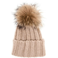 LUX FUR POM BEANIE MORE COLORS+