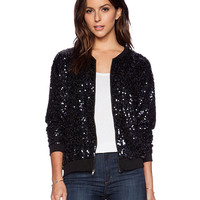Long Sleeve Sequined Jacket