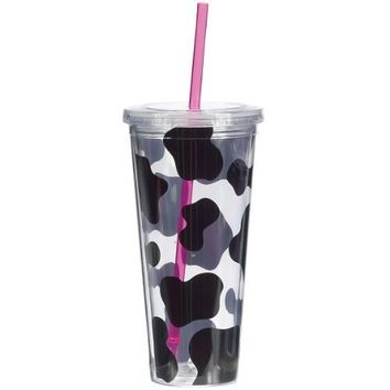 Boston Warehouse 22-Ounce Insulated Cow Cup with Straw