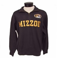 The Mizzou Store - Mizzou Black 1/4 Zip Comfort Twill Jacket
