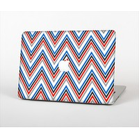 "The Red-White-Blue Sharp Chevron Pattern Skin Set for the Apple MacBook Pro 15"" with Retina Display"