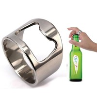Beer Opener Ring - Stainless Steel - Bar Tool