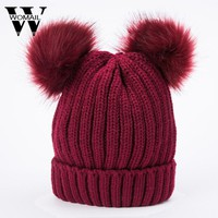 Women's Hat Skullies Beanies Solid Color Knitted Hats Beanie Hat Women Beanies Hats