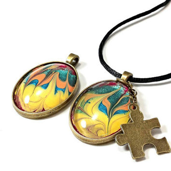 Autism necklace, autism awareness jewelry, autism jewelry, puzzle piece necklace, mom necklace, puzzle necklace, gifts for her, Christmas.