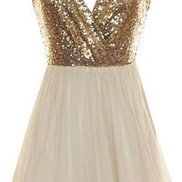 Homecoming Dress,  Deep V-Neck Homecoming Dress with Sequins, Cute Short Party Dress