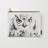 Owl watch over Carry-All Pouch by J.Lauren