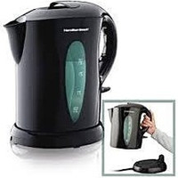 Hamilton Beach Cordless Electric Kettle Tea Beverage Drink Hot Water Coffee Pot
