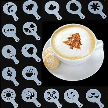 Coffee Latte Cappuccino Barista Art Stencil Templates Coffee Tools Accessories