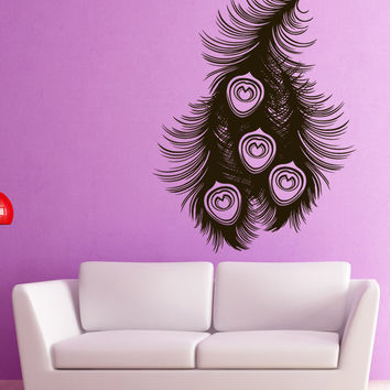 Vinyl Wall Decal Sticker Peacock Feathers #1528