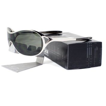 Oakley OO 4039-03 DECEPTION Polished Chrome Frame Dark Grey Womens Sunglasses