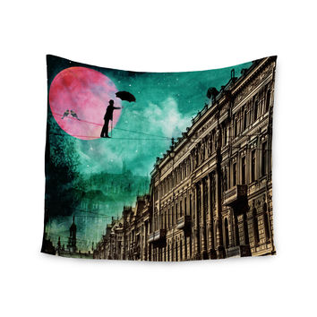 "Suzanne Carter ""Moonlight Stroll"" Surreal Wall Tapestry"